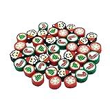 Perlas de arcilla polimérica redondas de arcilla polimérica para Halloween, Navidad, bricolaje, cuentas redondas de pasta polimérica para hacer joyas, pulseras, hebilla tipo B