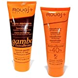 Rougj + solaire Crema abbronzante Attiva bronz viso-corpo 100ml + Extra Bronz gambe 100ml - 1 kt