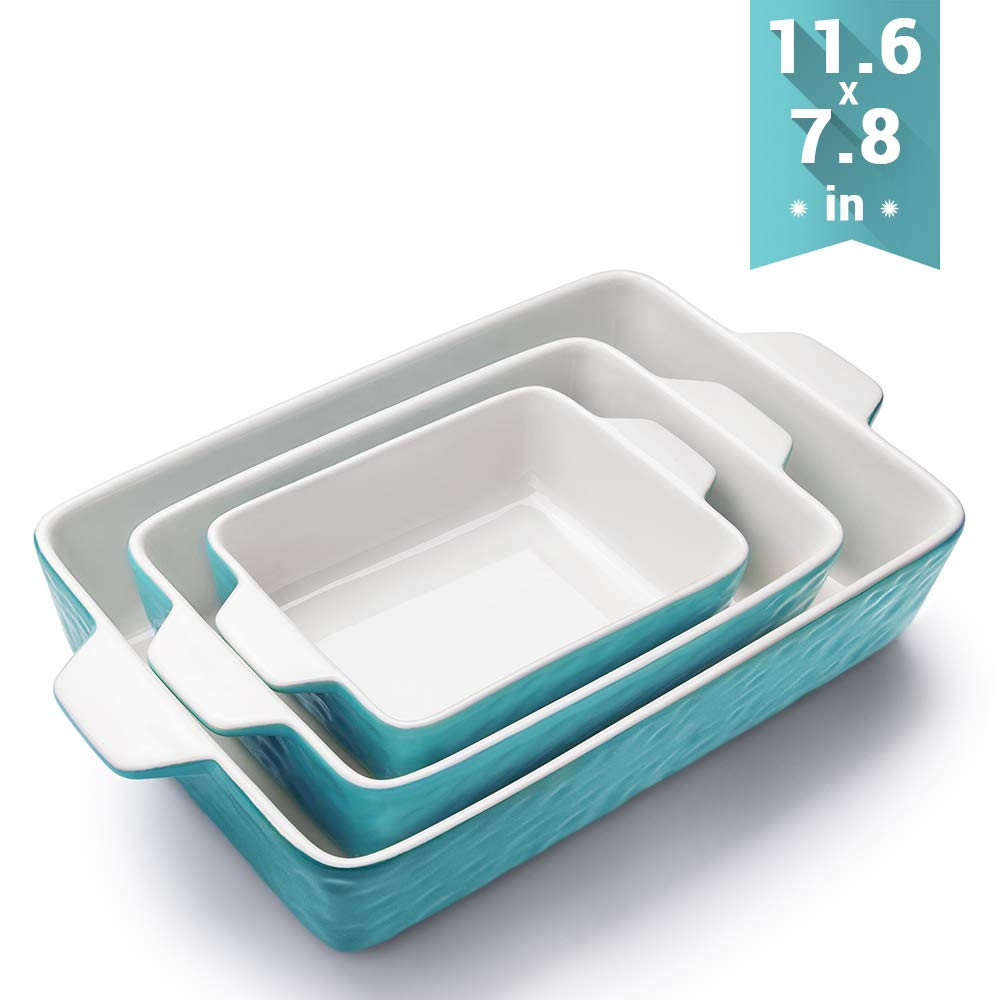 Bakeware Krokori Rectangular Ceramic Aquamarine
