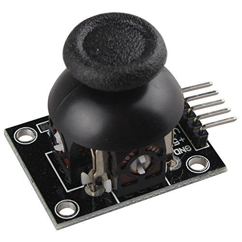 HALJIA PS2 Game Joystick Axis Sensor Module Biaxial Button Control Joystick Shield Compatible with Arduino Robot Raspberry Pi AVR PIC