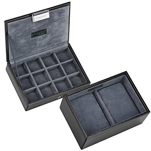 2 tlg. Uhren & Manschettenknopf box / Cufflink and watchbox (2 pcs)