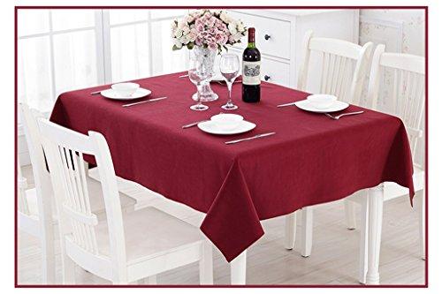 Tischdecke Casual Dining Tischdecke, Bankett Tischdecke, Konferenz Tischdecke, Hotel Tischdecke, Kirche Tischdecke, Größe: 150* 200cm Tischdecke rot