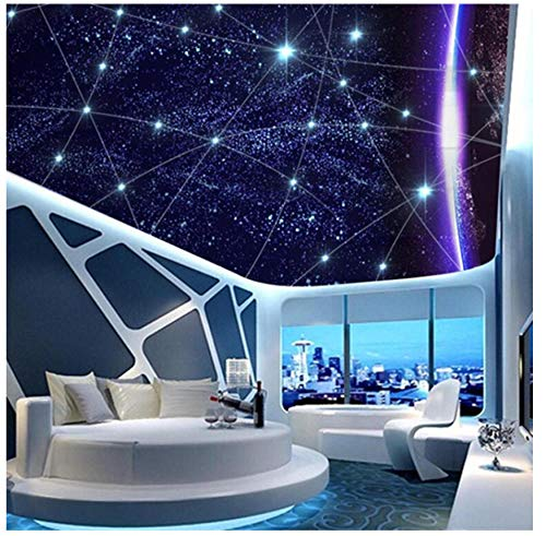 Muurschilderingen Aangepaste 3D HD Behang Geometrische Lijnen Universe Sterrenhemel Landschap Plafond Mural Slaapkamer Woonkamer Kinderen Kamer Achtergrond Wanddecoratie 300(w)x210(H)cm
