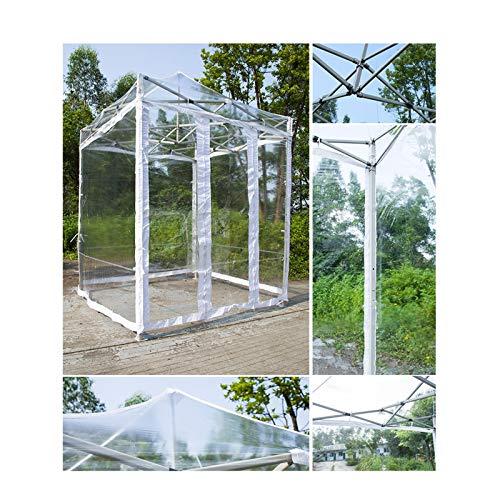 GDMING Plegable Impermeable Transparente, Tarea Pesada Lona Alquitranada, Exterior Protección UV Toldo De Pérgola para Cubierta De Patio Refugios Solares, 6 Tamaños (Color : Claro, Size : 1.5x1.5m)