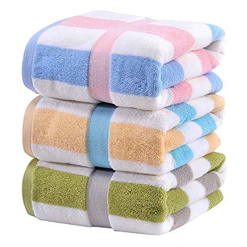 LSJZZ Las Toallas de baño de algodón Puro para Hombres y Mujeres Son más Gruesas y más absorbentes, Secado rápido, Multiusos, natación, Fitness, Deportes, Yoga