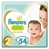 foto Pampers Premium Protection New Baby Pañales, talla 2 (4-8 kg), 1 unidad (1 paquete de 54 unidades).