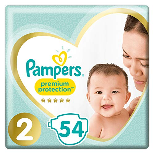 Pampers Premium Protection Taille 2, 54 Couches, 4kg-8kg