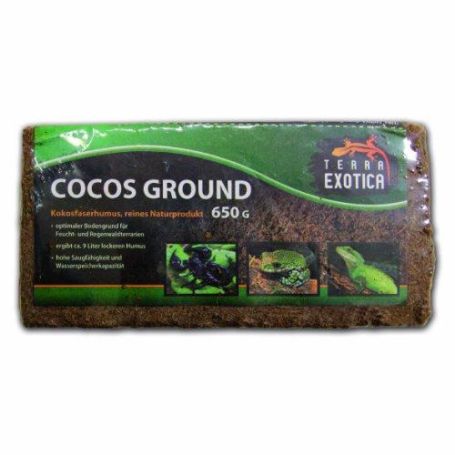 Terra Exotica 44 x Cocos Ground Humusziegel ca. 650 g - fein ca. 215 Liter Substrat