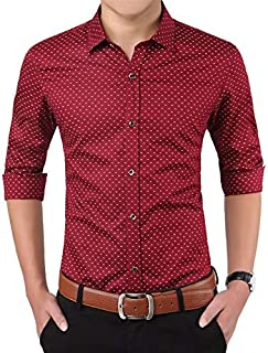Super weston Cotton Dotted Shirts for Men for Formal Use,100% Cotton Shirts,Office Wear Shirts, M=38,L=40,XL=42
