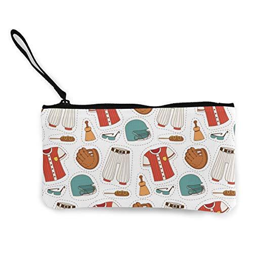 Architd Baseball-Anzug Münzbörse Make-up-Tasche mit Reißverschluss Handgelenk Reise-Kosmetiktasche für Frauen Mädchen Personalisiert