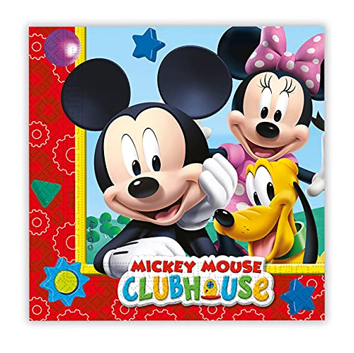 Folat B.V. 81510 Pack 20 servilletas 33 x 33 cm, Mickey Mouse, Sintético, Multicolor