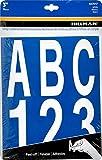 Hillman 847017 3' Peel-Off White Vinyl Letters & Numbers Pack