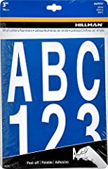 """Vinyl letters and numbers Self adhesive Use in the home or workplace Die-Cut characters are 3"""" in size"""