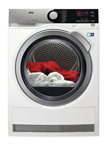 AEG T8DE76595 Wärmepumpentrockner / AbsoluteCare: Wolle-Seide-Outdoor trocknen / 9 kg / Energiesparend / Mengenautomatik / Knitterschutz / Schontrommel
