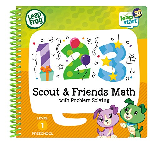 LeapFrog 460703 Scout and Friends Maths 3D Activity Book Learning Toy, Multi-Colour, One Size