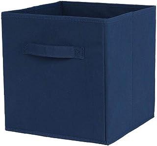 Tissu panier Bin Boîtes de rangement de rangement pliable cubes Organisateur avec poignées bleues pour le remisage