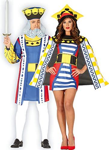 Fancy Me Kostüm für Paare, Damen und Herren, Spielkarte Royalty Vegas