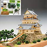 ウッディジョー/木製建築模型 1/150小田原城+ジオラマ・塗料セット