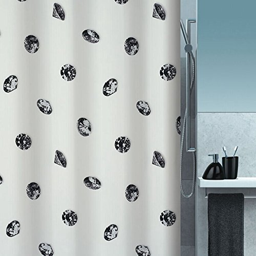 Die Badezimmer Diamond gepolsterte Polyester wasserdicht Schimmel am Duschvorhang Duschvorhang Duschvorhang Schatten Vorhang