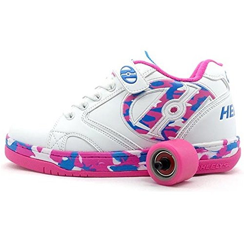 Heelys Mädchen Skate-Schuhe, Weiß rosa blau - Größe: 36.5 EU