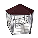 Neocraft My Pet Companion Outdoor Dog Kennel with Included Roof Weather Resistant Cover...