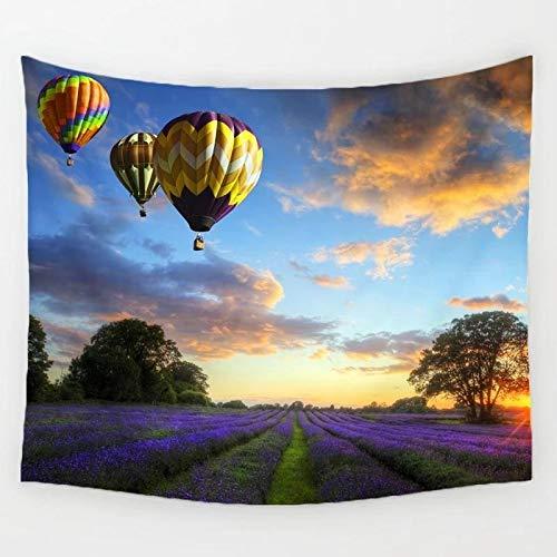 Aterrizaje de globos Aurora Sunset Tapiz Impresión Montado en la pared Decoración de cabecera familiar Tapiz Tela de fondo a1 130x150cm