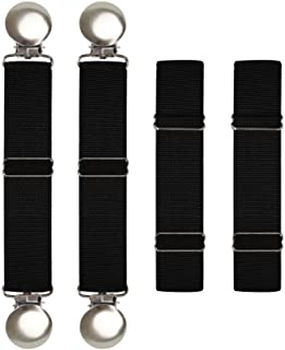 Boncas Improved Sturdy Adjustable Elastic Boot Straps Pant Clips Stirrups Keeping Your Pants Tucked