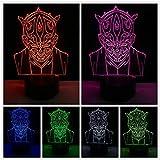 Juego de personajes 3D LED Boy Girl Dormitorio Night Light Multicolor CartoonLava Gift
