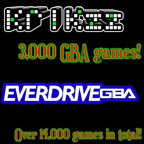 MicroSD card for the Everdrive-GBA X5!!! SD card with over 3,000 GBA games and over 15,000 total games! Ready to Plug and Play!