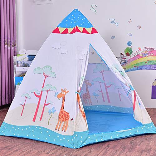 YLHOME Indische Kinder Zelt, Kinder Zelt für Indoor Outdoor, Breathable Anti-Moskito, leicht zu lagern, sicher und ungiftig,Weiß