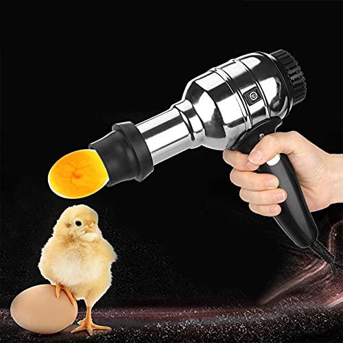 Luz LED brillante, aleación de aluminio que no se oxida, incubadora de huevosde velas huevos para incubar para pollo pollo pato ganso codorniz incubadora de aves de corral incubadora,4 lamp beads