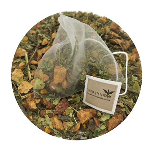 Tea People Detox, 50 Herbal Tea Pyramids in A Resealable Pouch, 125 g