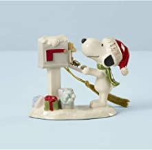 Lenox Snoopy's Letter to Santa Ornament, 0.50 LB, Multi