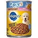 Pedigree Puppy Ground Dinner Wet Canned Dog Food, 13.2 oz can (Pack of 12)