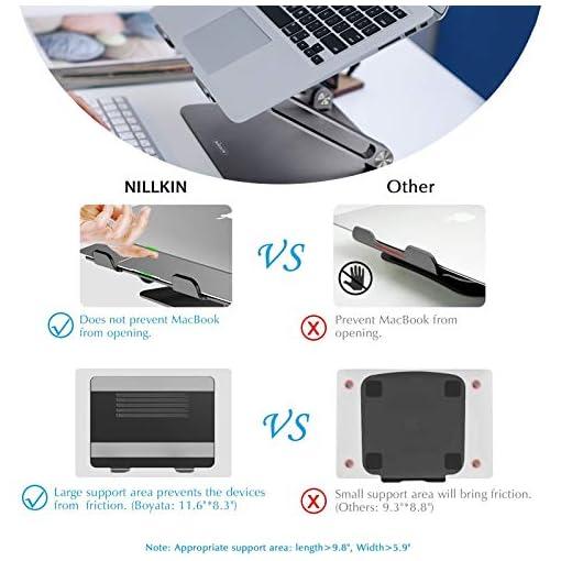 NILLKIN Soporte portátil, Ajustable Laptop Stand Aluminio Soporte ventilado para portátil para MacBook, Surface y Otras… 2