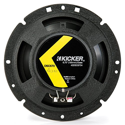 2 Kicker 43DSC6704 D-Series 6.75″ 2-Way 4-Ohm Car Audio Coaxial Speakers
