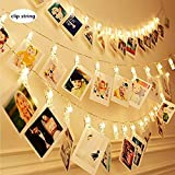 Photo Clips Lights are apt for both indoor and outdoor use.These hanging,copper string lights or LED wire lights make a great holiday decoration or perfect for Festival, Christmas, Wedding, Holiday and Party The string lights can be bent skillfully t...