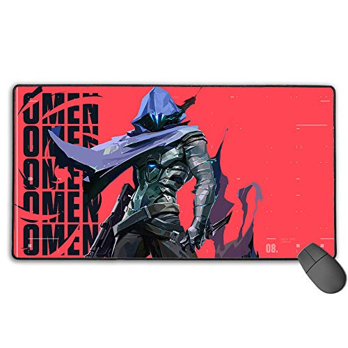 Valorant Game Omen Large Gaming Mouse Pad Waterproof Non-Slip Rubber for Pc Computer Laptop 11.8X31.5 in(30Cm X 80Cm)