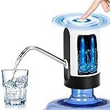 Bomba de botella de agua, Vagalbox carga USB Dispensador de agua automático Bomba de agua potable portátil compacta compacta para 5 galones Botella de agua universal Diseño silencioso