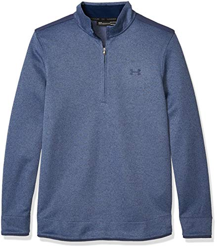 Under Armour Men's Sweater Fleece 1/2 Zip-Up, Blue Ink (497)/Academy, Large