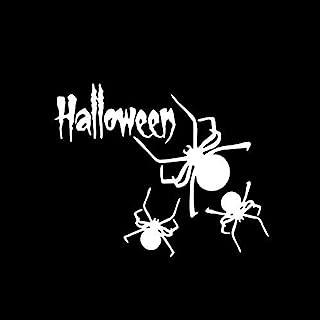 13.4X 10.9Cm Funny Halloween Spider Vinyl Decor Sticker Car Accessories Silhouette Motorcycle