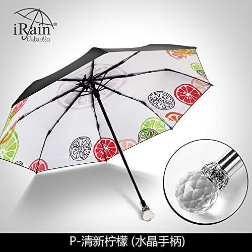 YFF@ILU Parasols cadeau d'amoureux de femme UV pliage parapluie, avec deux hommes baromètre