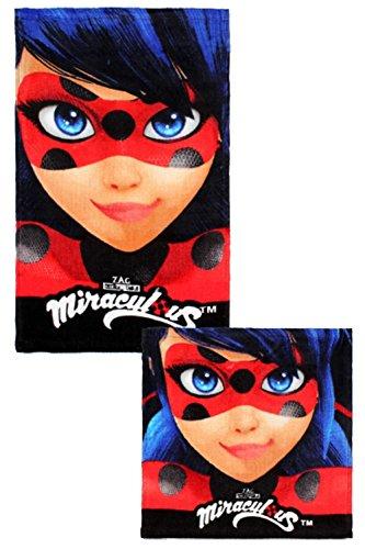 ZAG Heroez Miraculous Ladybug Kinder-Handtuch und Waschlappen Set