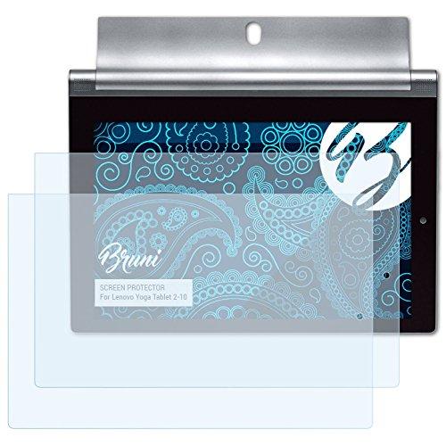 Bruni Schutzfolie kompatibel mit Lenovo Yoga Tablet 2-10 Folie, glasklare Bildschirmschutzfolie (2X)
