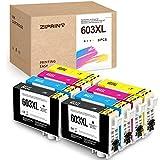 ZIPRINT Cartuchos de tinta 603XL 8 compatibles con Epson 603 603XL para Epson XP-3105 XP 2100 WF-2810 WF-2830 WF-2835 WF-2850 XP-2100 XP-3100 XP-4100 XP-2105 XP-4105