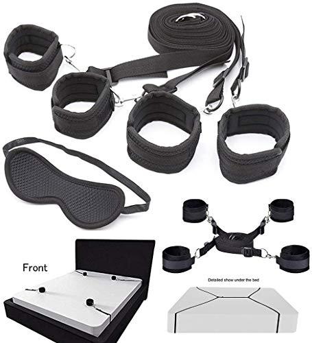 HeyFun Set of Bed Rëštrâîňtš & blindfold Underbed Under Bed Adjustable Bed Rëštrâîňt Straps