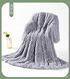 Manta de Microfibra Color sólido, Extra Suave Mantas para Sofás, Multifuncional para sofá, Cama, Viajes, Adultos, niños -Atenas Ashes_80 * 120cm