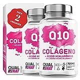 collagene con acido ialuronico + coenzima q10 + vitamina c - 180 cápsulas - qualnat