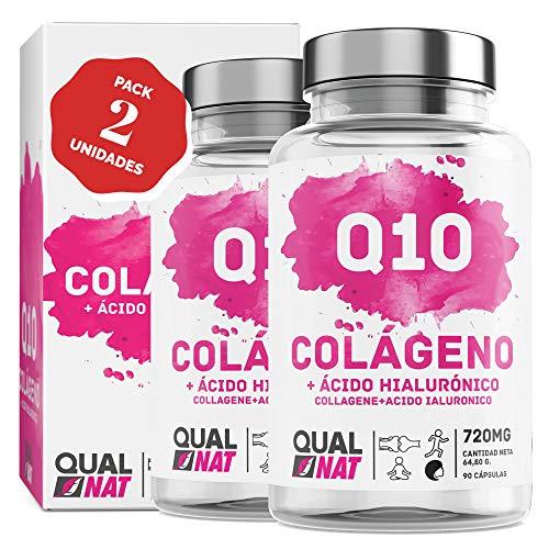 Collagene marino con acido ialuronico + coenzima Q10 per una pelle sana - Collagene + vitamina C e zinco per contribuire a migliorare l'elasticità e la salute delle ossa e delle articolazioni