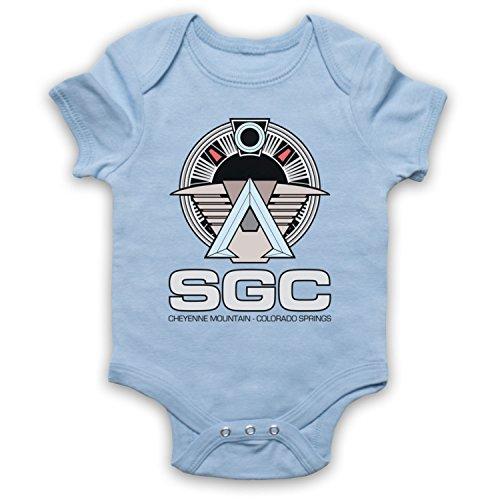 Death To Videodrome Star SGC Sci Fi Space TV Film Baby Grow blu cielo 18 mesi